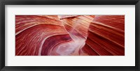 Framed Pink sandstone rock formations, The Wave, Coyote Buttes, Utah, USA