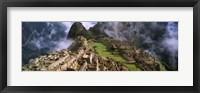 Framed Inca Ruins, Machu Picchu, Peru
