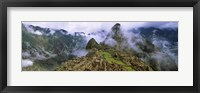 Framed High Angle View of Machu Picchu, Peru