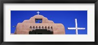 Framed Low angle view of Santo Tomas Church, Santa Rosa De Lima, New Mexico, USA