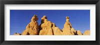 Framed Low angle view of rock formations, Queens Garden, Bryce Canyon National Park, Utah, USA