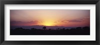 Framed Sunset over a landscape, Tarangire National Park, Tanzania