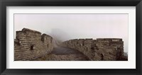 Framed Fortified wall in fog, Great Wall of China, Mutianyu, Huairou County, China