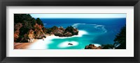 Framed Rock formations at the coast, Big Sur, California, USA