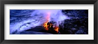 Framed Lava flowing from a volcano, Kilauea, Hawaii Volcanoes National Park, Big Island, Hawaii, USA