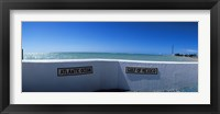 Framed Junction of Atlantic Ocean and Gulf of Mexico, Key West, Monroe County, Florida, USA