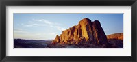 Framed Red rock at summer sunset, Valley Of Fire State Park, Nevada, USA