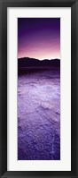 Framed Salt Flat at Sunset, Death Valley, California