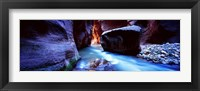 Framed Virgin River at Zion National Park, Utah, USA