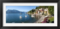 Framed Early evening view of waterfront at Varenna, Lake Como, Lombardy, Italy
