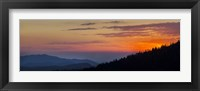 Framed Sunset at Clingmans Dome, Tennessee