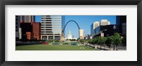 Framed Buildings in a city, Gateway Arch, Old Courthouse, St. Louis, Missouri, USA