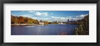 Framed Boat in the river, Schuylkill River, Philadelphia, Pennsylvania, USA