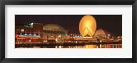 Framed Night Navy Pier Chicago IL USA