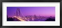 Framed Bay Bridge at Night, San Francisco
