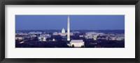 Framed High angle view of Washington DC