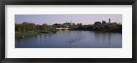 Framed Boat in a river, Charles River, Boston & Cambridge, Massachusetts, USA