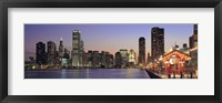 Framed View Of The Navy Pier And Skyline, Chicago, Illinois, USA