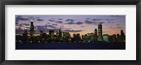 Framed Chicago Skyline at Dusk