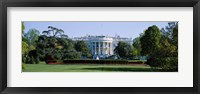 Framed Lawn in front of a government building, White House, Washington DC, USA
