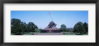 Framed War memorial with Washington Monument in the background, Iwo Jima Memorial, Arlington, Virginia, USA
