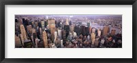 Framed Aerial View of New York City Skyline