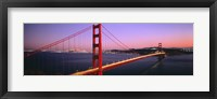 Framed Night Golden Gate Bridge San Francisco CA USA
