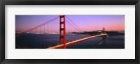 Framed Night Golden Gate Bridge San Francisco CA USA