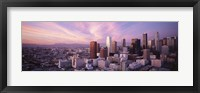 Framed High Angle View Of The City, Los Angeles, California, USA,