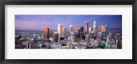 Framed Night, Skyline, Cityscape, Los Angeles, California, USA