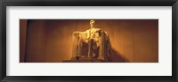 Framed USA, Washington DC, Lincoln Memorial, Low angle view of the statue of Abraham Lincoln