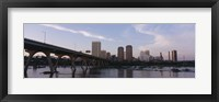 Framed Low angle view of a bridge over a river, Richmond, Virginia, USA