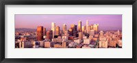 Framed Sunset Skyline Los Angeles CA USA
