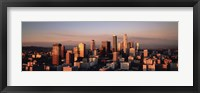 Framed Skyline At Dusk, Los Angeles, California, USA