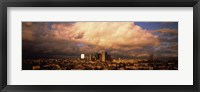Framed Los Angeles Under Clouds