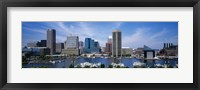 Framed Inner Harbor, Baltimore, Maryland