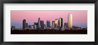 Framed Twilight, Dallas, Texas, USA