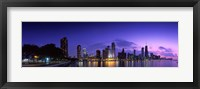 Framed Chicago Under a Purple Sky