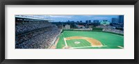 Framed High angle view of spectators in a stadium, Wrigley Field, Chicago Cubs, Chicago, Illinois, USA