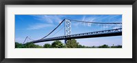 Framed USA, Philadelphia, Pennsylvania, Benjamin Franklin Bridge over the Delaware River