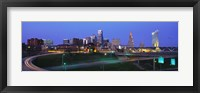 Framed Kansas City, Missouri at Night
