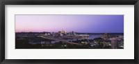 Framed Cincinnati, Ohio at Dusk