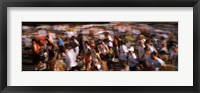 Framed Crowd participating in a marathon race, Bay Bridge, San Francisco, San Francisco County, California, USA