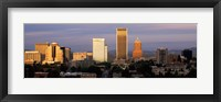 Framed Cityscape at sunset, Portland, Multnomah County, Oregon, USA