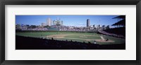Framed Baseball match in progress, Wrigley Field, Chicago, Cook County, Illinois, USA