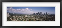 Framed High angle view of a cityscape, Century city, Los Angeles, California, USA