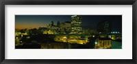 Framed Newark, New Jersey at Night