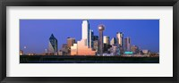 Framed Night skyline, Dallas, Texas