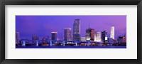 Framed Miami at night, FL