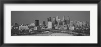 Framed Philadelphia Skyline (black & white)